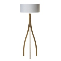 Light wood floor lamp