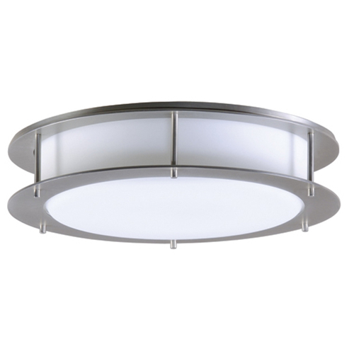 Satin nickel flush mount light