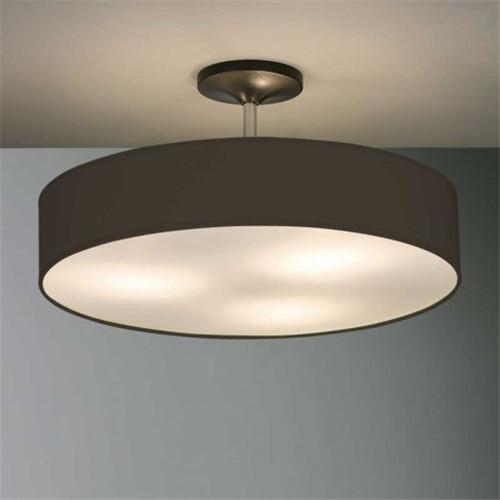 3 Light fabric shade semi flush mount
