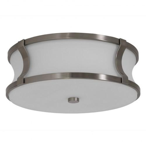 Brushed nickel flush mount light