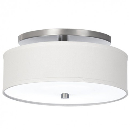Drum shade semi flush mount light