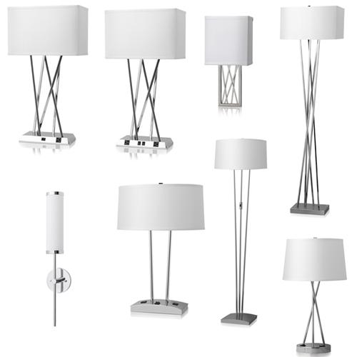 Hotel table lamps with outlets
