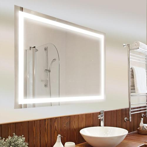 Light up wall mirror