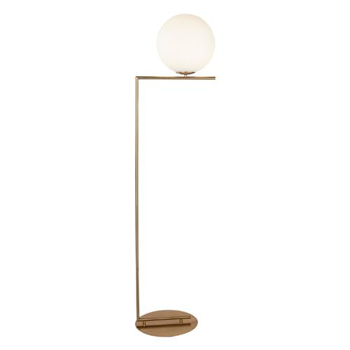 White globe floor lamp