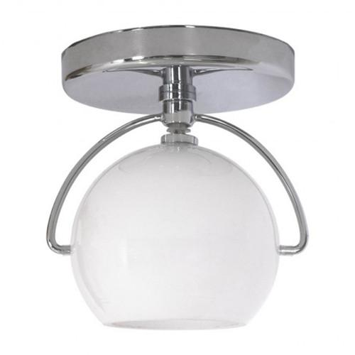 Globe semi flush mount