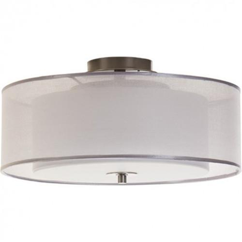 Double organza semi flush mount