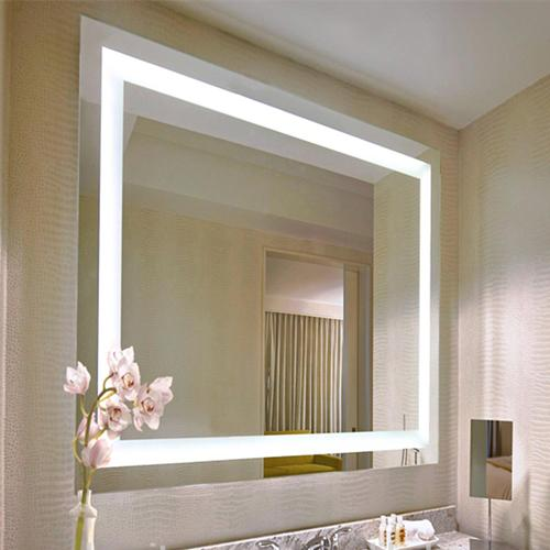 Wall mounted mirrors with lights