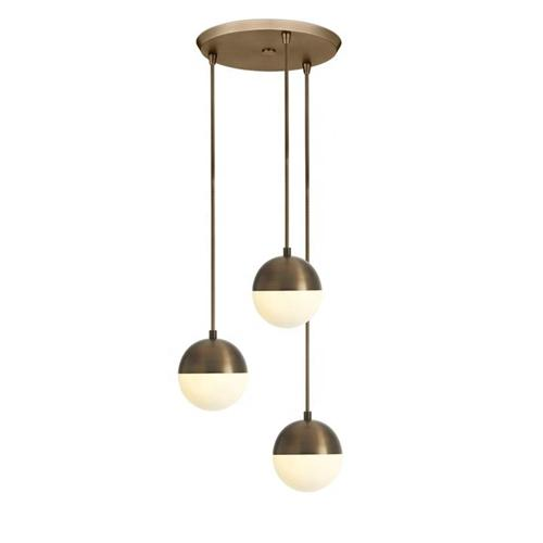3 Light cluster pendant fixture