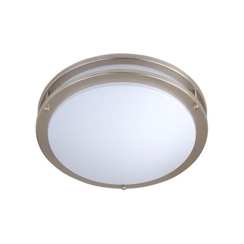 Satin nickel flush mount